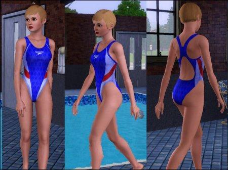 Спортивные топики и купальники для Симс 3 в формате package