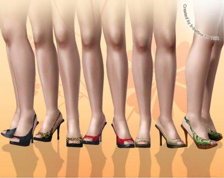 Креативные туфли от b-bettina для Симс 3 в формате sims3pack