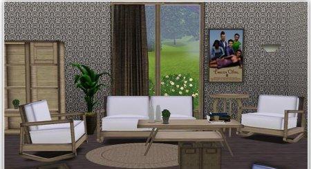Комнатная мебель для Симс 3 в формате sims3pack