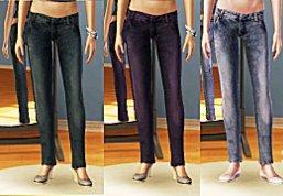 Корсет с бантом и джинсами для Симс 3 в формате sims3pack