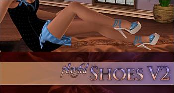 Туфельки на высокой подошве для Симс 3 в формате sims3pack
