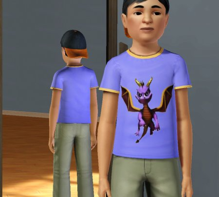Детские футболки со Spyro & Garfield для Симс 3