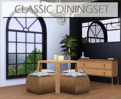 Новая мебель. Классический стол для гостиной (Симс 3) в формате sims3pack