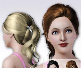 Причёски c косичкой для Симс 3 в формате package