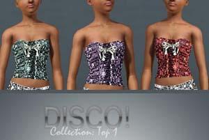 Топы в стиле Disco для Симс 3 в формате sims3pack