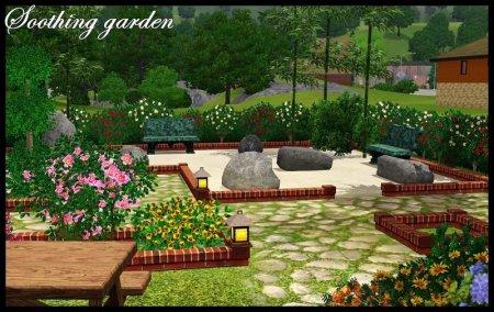 Успокаивающий сад (Soothing garden) для Симс 3 в формате sims3pack