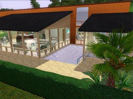 Современный дом от Serenity для Симс 3 в формате sims3pack