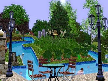 Водный парк для Симс 3 в формате sims3pack