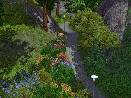 Парк среди гор для Симс 3 в формате sims3pack