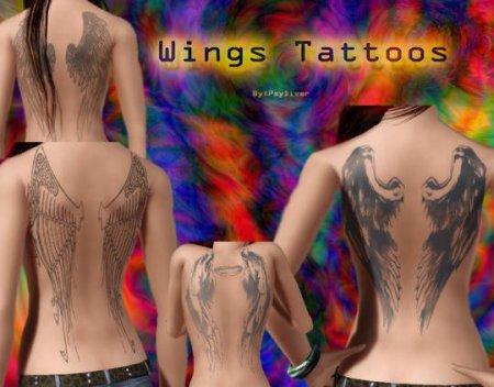 """Татуировки """"Крылья"""" для Симс 3 в формате sims3pack"""