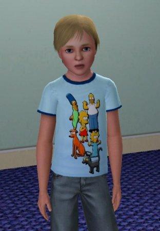 """Детская футболка """"Simpsons"""" для Симс 3 в формате sims3pack"""