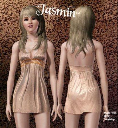 Платье  для Тусы от Jasmin (Симс 3) в формате sims3pack
