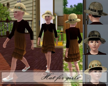 Милая шляпа для девочек (Симс 3) в формате sims3pack