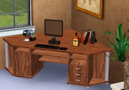 Компьютерный стол для Симс 3 в формате package