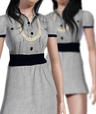 Короткое привлекательное платье для Симс 3 в формате sims3pack