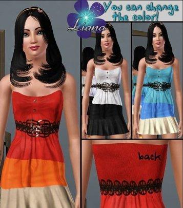 Платье от Liana для Симс 3 в формате package