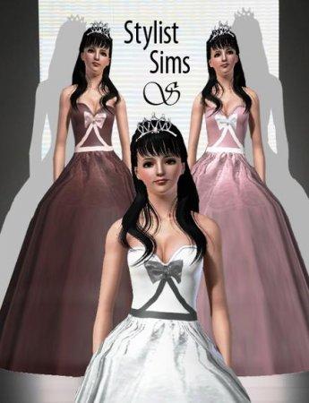 Бальное платье от Stylist для Симс 3 в формате sims3pack