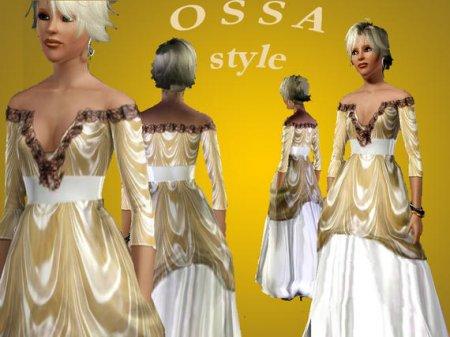 """Свадебная платье """"Империя"""" для Симс 3 в формате sims3pack"""