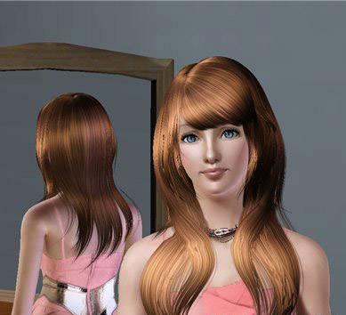 Новая прическа (длинные волосы) для Симс 3 в формате package