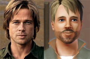 Сим актёра Брэда Питта (Brad Pitt) для игры Sims 3