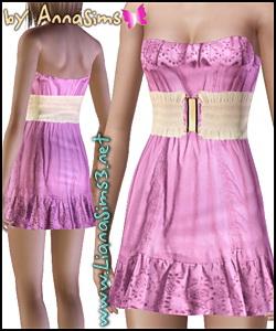 Платье с поясом от AnnaSims для Симс 3 в формате package