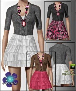Комбинация (кофточка и юбка) для Симс 3 в формате sims3pack