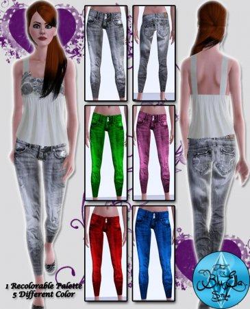 Красивые джинсы для Симс 3 в формате sims3pack
