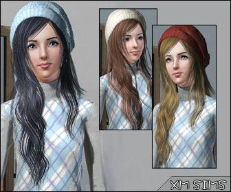 Причёска с длинными волосами для женщин (Симс 3) в формате sims3pack