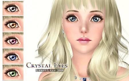Кристальные линзы от leamon Leaf для Симс 3 в формате sims3pack
