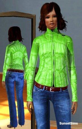 Женская куртка для Симс 3 в формате sims3pack
