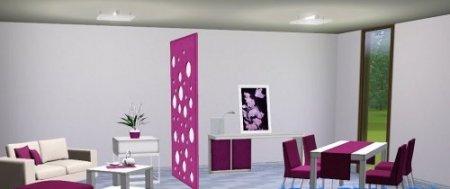Гостиная-столовая для Симс 3 в формате sims3pack
