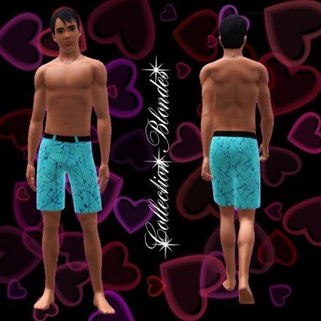 Мужские купальные трусы для Симс 3 в формате sims3pack