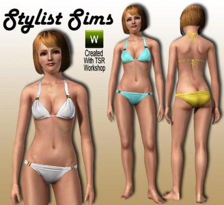 Стильное бикини для Симс 3 в формате sims3pack