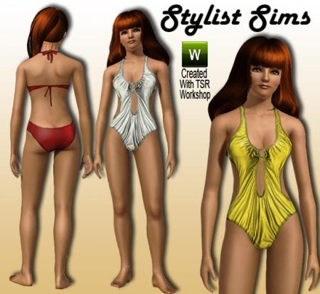 Купальник-пландж от Stylist для Симс 3 в формате sims3pack