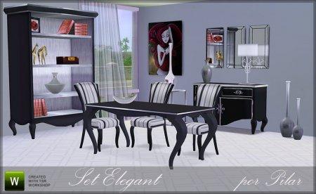 Мебель для столовой для Симс 3 в формате sims3pack