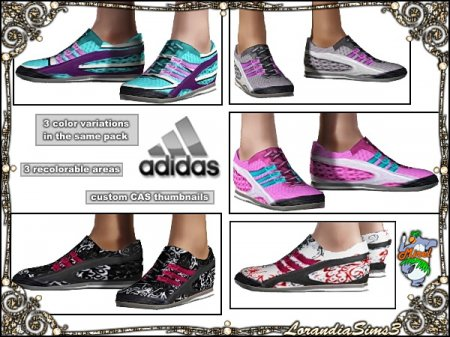 Кроссовки Adidas для Симс 3 в формате package
