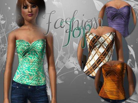 Модный топ для Sims 3