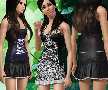 Новое короткое платье для Симс 3 в формате sims3pack