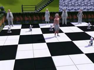 Видеоролик. Шахматный поединок в sims 3