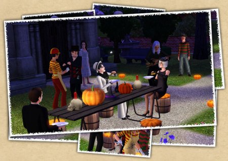 Halloween Set от Sandy для Sims 3