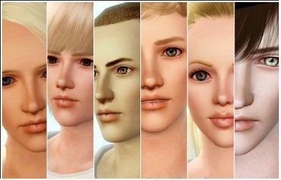 Дефолтный скин для лица от Ephemera для Cимс 3 в формате package