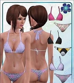 Раздельный купальник для симс 3 в формате sims3pack