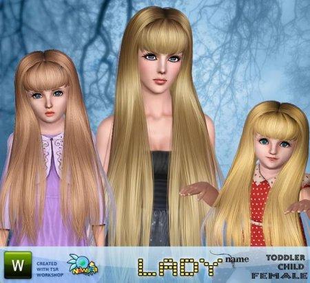 Прическа от Lady newsea для Симс 3 в формате sims3pack