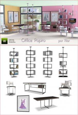 Набор для Офиса от pilar для Cимс 3 в формате package