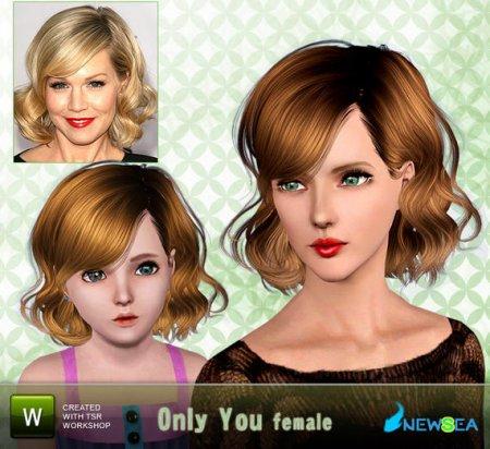 Прическа Only You от newsea для Симс 3 в формате sims3pack