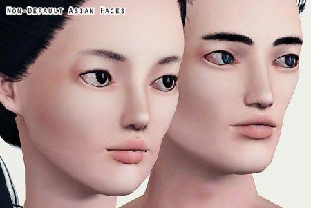 Недефолтный скин азиатского лица для Симс 3 в формате package