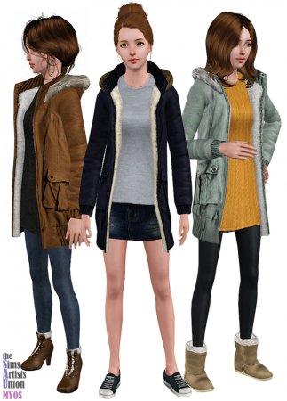 Пальто для Симс 3 в формате sims3pack