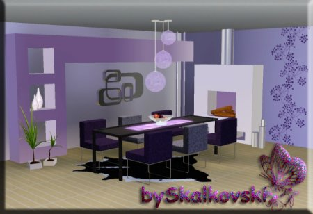 Столовая в стиле Modern для The Sims 3 в формате sims3pack