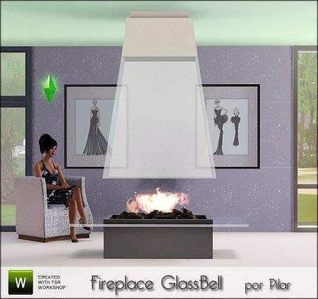 Камин Стеклянный колоколо (GlassBell) для Симс 3 в формате sims3pack