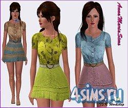 Три платья для симс 3